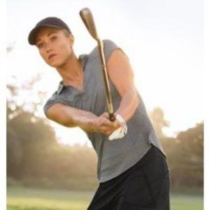 Athleta Swing time collar short sleeve polo shirt